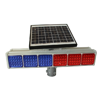 solar LED strobe light with Dry Battery for road safety