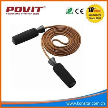 Hot sale jump rope speed crossfit, jump rope leather with bearing