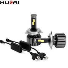 2018 new arrival H4 60w COB led moving head beam light waterproof high power led car bulbs royal enfield headlight with CE ROHS