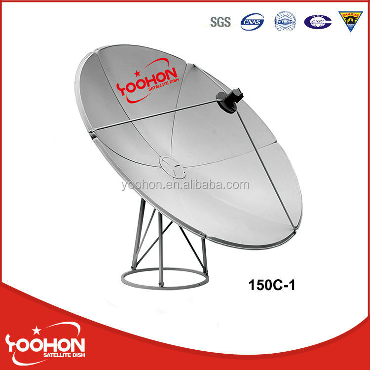 Offset 1.5m satellite dish antenna C Band
