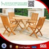 Selling like hot cakes outdoor leisure table and chair teak wood furniture