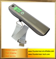 50kg Stainless Steel Digital luggage Scale with 1M measuring tape and Spirit level
