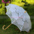 Handmade Adult Size 100% Cotton Victorian Lace Parasol with Hook Handle for Wedding Lace Umbrella