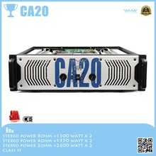 Drive line array speaker new design CA20 , 3U sound system power amplifier 13 pair tube