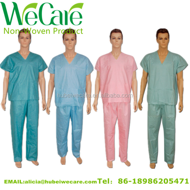 Customized Soft Non Woven Disposable Pyjama For Patients - Different colors