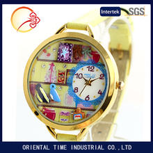 Womens home Polymer Clay Quartz Dial Wrist Watch for Cute Girls