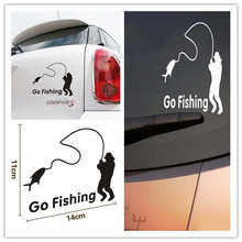 2 Colors Cartoon Car Styling Car Stickers Go Fishing Decoration for Mazda 2 3 5 6 8 CX-5 CX-7 CX-9 MX-5 ATENZA Axela