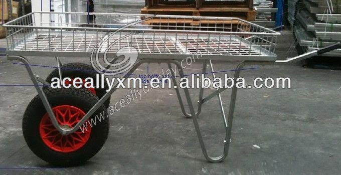 electric galvanized garden cart