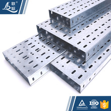 Guangdong Manufacturers Outdoor 200Mm 300Mm Electrical Perforated Metal Hot Dipped Galvanized Cable Tray Sizes