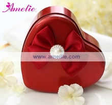 AT23 Wholesale Decorative Heart Tin Sweet Red Wedding Favor Boxes