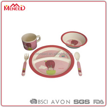 5pcs Child safe OEM&ODM unbreakable BPA free kids dinner ware set