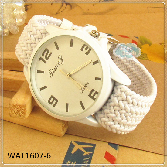 White Elastic Vintage Watch 2013 New Design