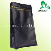 Heat seal customized side gusset coffee packaging bag with valve and tear notch