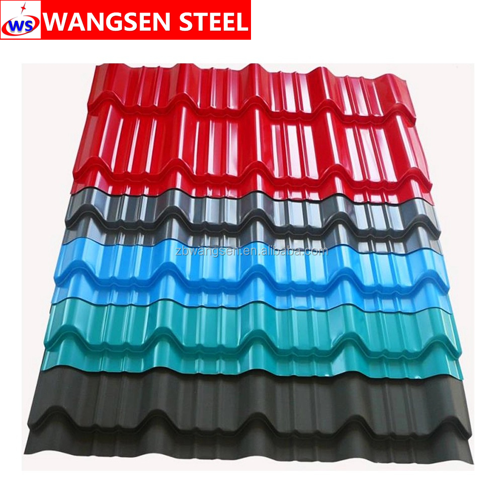 colour painted galvanized corrugated steel sheet metal roofing