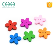 Wholesale 2-holes fower wood button for Clothing Decoration DIY Craft Accessories