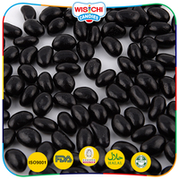 High quality black color licorice jelly bean halal sweet licorice flavor candy
