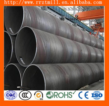 sprial welded steel pipe oil and gas pipelines/black steel large diameter spiral steel pipe/sprial line welded pipe size