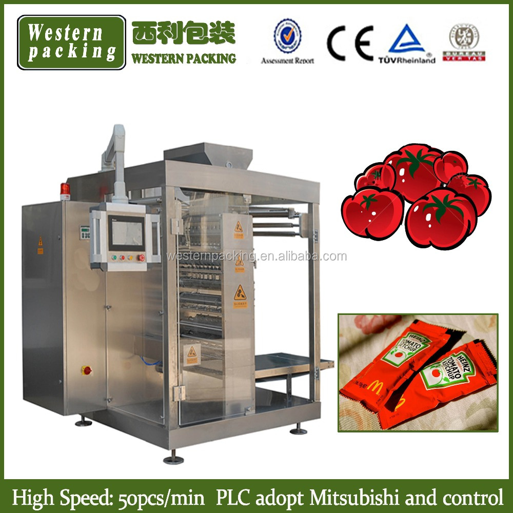 Automatic Small Spice/Sugar/Liquid/Ketchup/Shampoo/Salt/Water/Tomato paste Sachet Packing Machine
