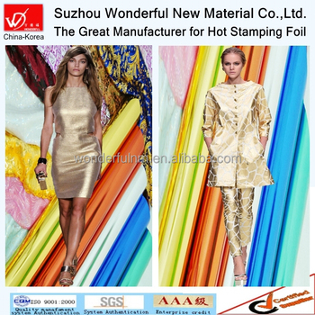 High quality product Metallic Hot Stamping Foil for textile in 2015