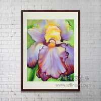 100% Handpainted flower free design wall oil Abstract painting