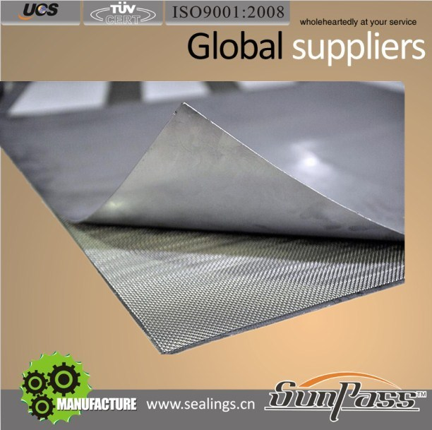 Metal Wire Mesh Inserted (Pure Graphite) Sheet Gasket