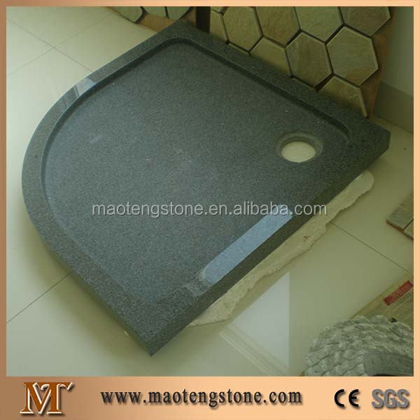 Wellest China Black Granite Fan Shape Soap Dish,Soap Dish,Bath Accessories