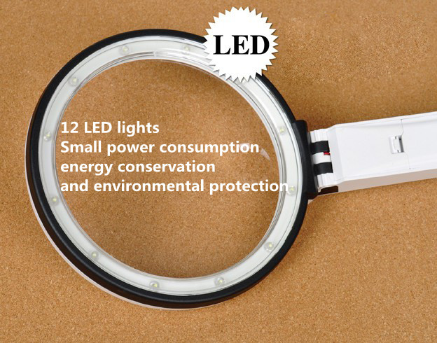 10 LED Lamp Desktop Magnifier New Product Alibaba 2018,LED Power Supply Glass Magnifier Free Sample China Suppliers