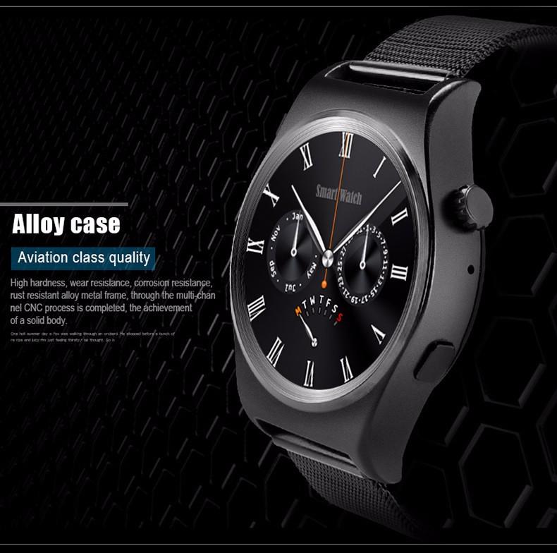 2016 X10 Smart Watch Adroid Bluetooth 4.0 Smart Watches Alloy Smartwatch Waterproof With Health Tracker On Wrist Watch