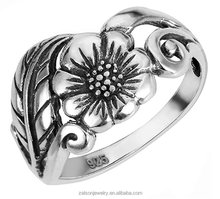 Sterling Silver Flower Ring (Sizes 2-15) Zalson Jewelry