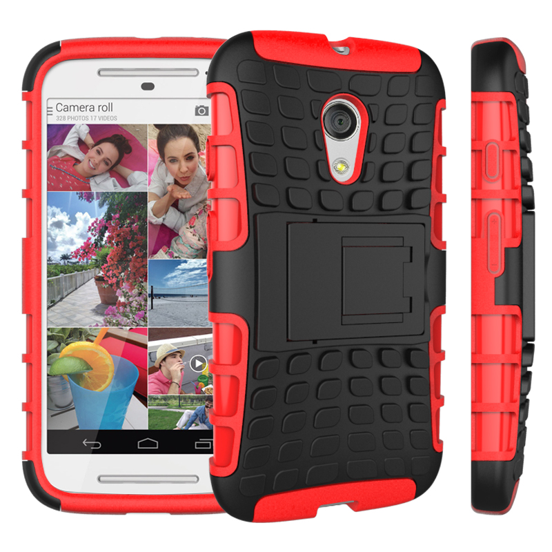 For Motorola Moto G2 Case, 2IN1 Stylish protactive phone case back cover high protective with magnet kickstand