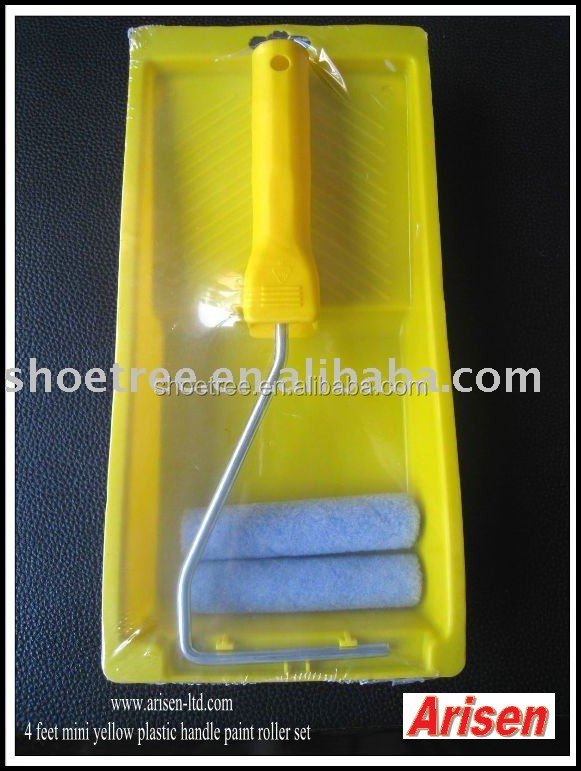 9 feet yellow plastic handle paint roller