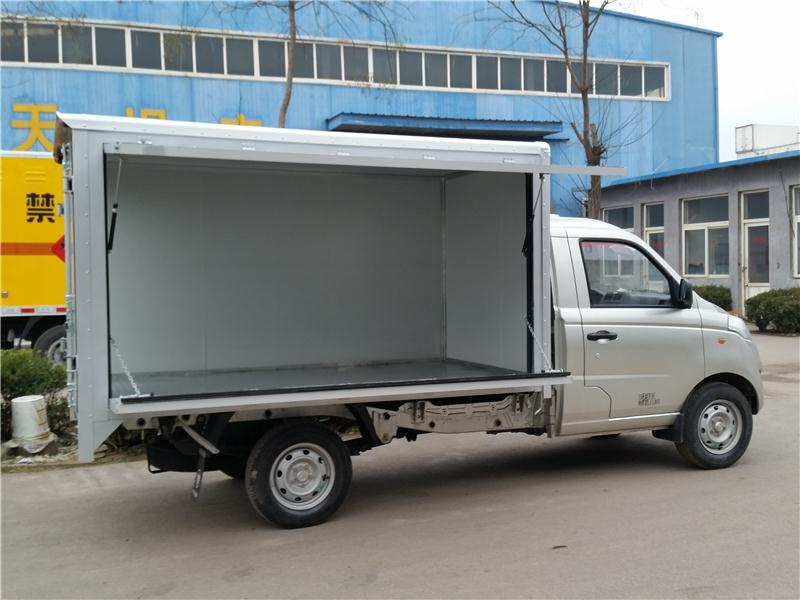 wing van body for truck single axle semi trailer