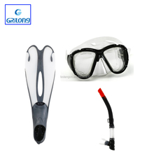 2017 China Made professional equipment diving mask set diving snorkel