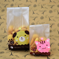 Different sizes food grade laminated material low price and top quality plastic printed cookied bag,waterproof and safe