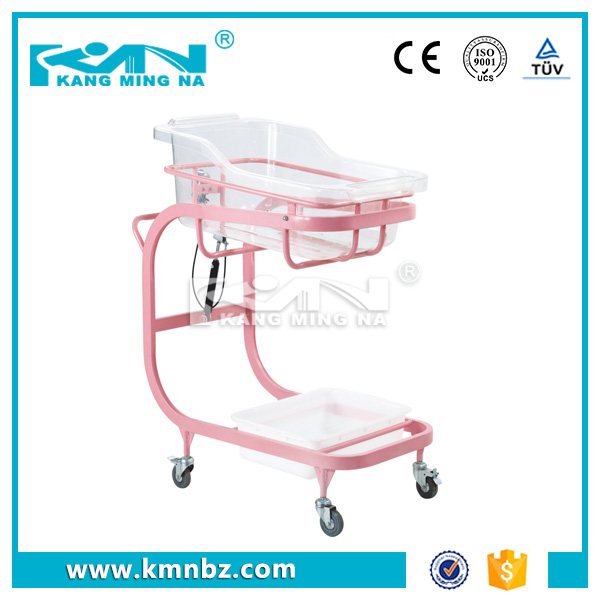 Hospital Steel Coating Baby Cart Infant Bed