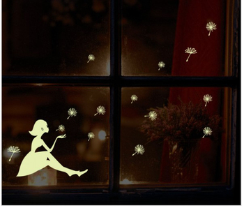 glow in dark illuminated angel sticker removable wall decoration sticker decor made of PVC