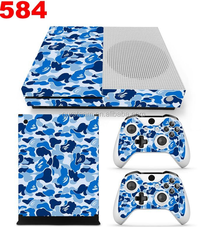 Camouflage Waterproof PVC Decals Cover for Xbox One Slim Vinyl Stcikers