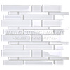 China Supplier White Strip Bathroom Homer Mosaic Tile For Wall Decoration
