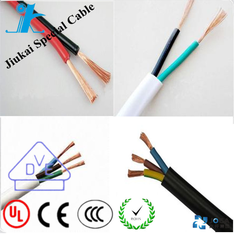 BVVB 300/500V 3x2.5mm copper conductor PVC insulation and sheathed flat cable