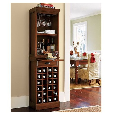 F40470A-1 Factory supplier antique tall thin designs wine rack cabinet with drawer