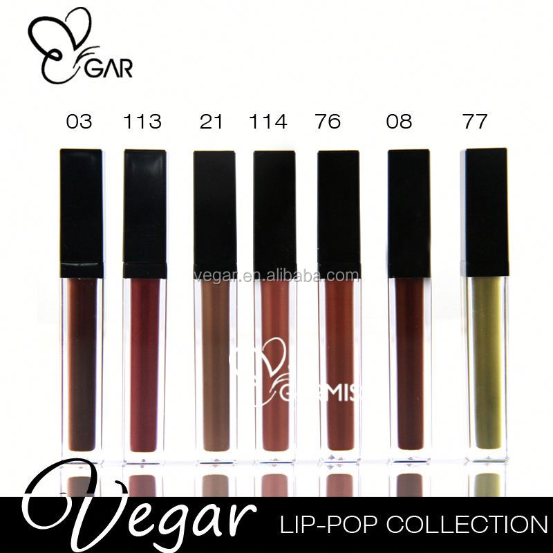 new private label make up No logo 18 hour Matte Liquid Lipstick Waterproof Lip gloss