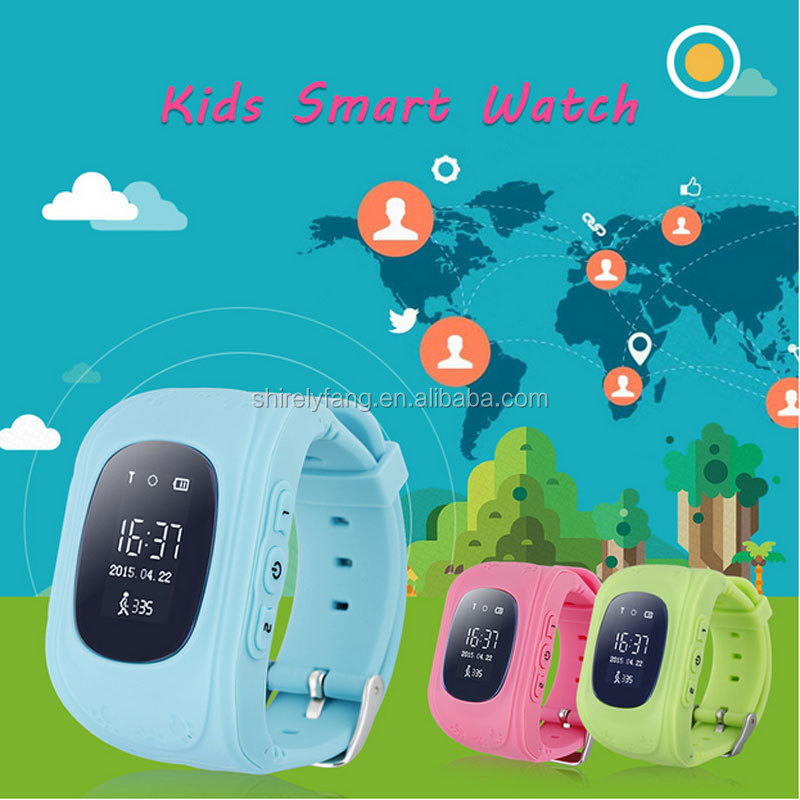 Kid GPS Tracker Smart Watch q50 Location Finder Locator Child Anti Lost Monitor Baby Gift Android Smartwatch