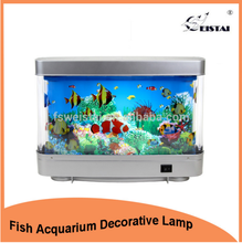 plastic LED lights coffe table fake fish tank aquarium