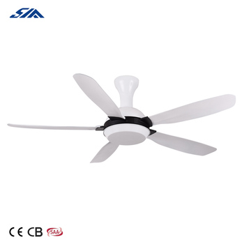 52 inch white color high RPM plastic blade Malaysia style inverter ceiling fan