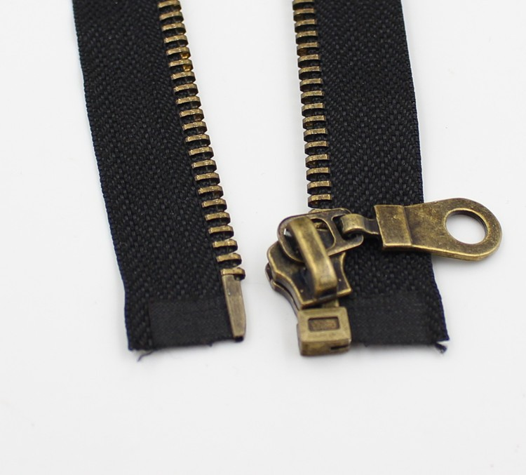 No. 5 metal zipper bronze zipper auto lock open end garment accessories alloy zipper