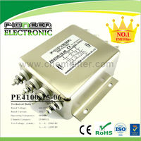 350A 250VAC General purpose three phase four line rf filters,noise filter surge protector