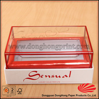 heart-shape clear plastic box packaging for cake