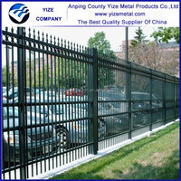 Hot dipped galvanized Wrought Iron fence / cheap Ornamental wrought iron fence