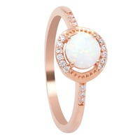 Opal ring engagement rings for women jewelry gold ring wholesale