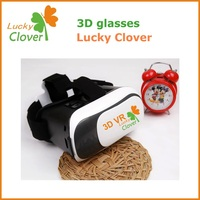 LuckyClover New product hand free 3D film box magical vr box glass 3d TV / Games case for all mobile phone i-os and android